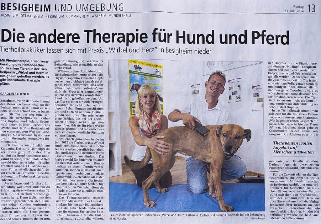 Bietigheimer Zeitung vom 23.06.2014